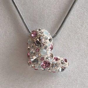Swarovski Pink Crystal Heart Necklace